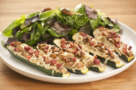 Stuffed Zucchini With Ham And Mushrooms Recipes — Dishmaps