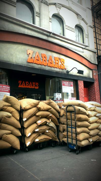 Coffee Bags in front of store