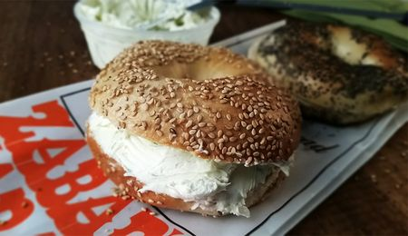 Zabars-bagel-and-cream-cheese
