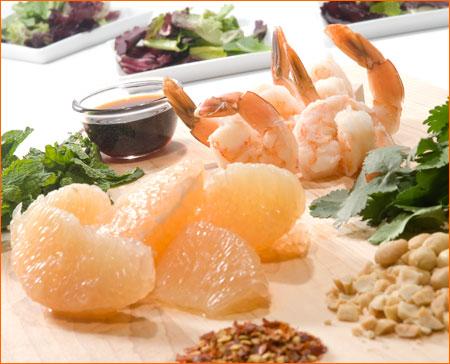 Southeast Asian Shrimp and Grapefruit Salad
